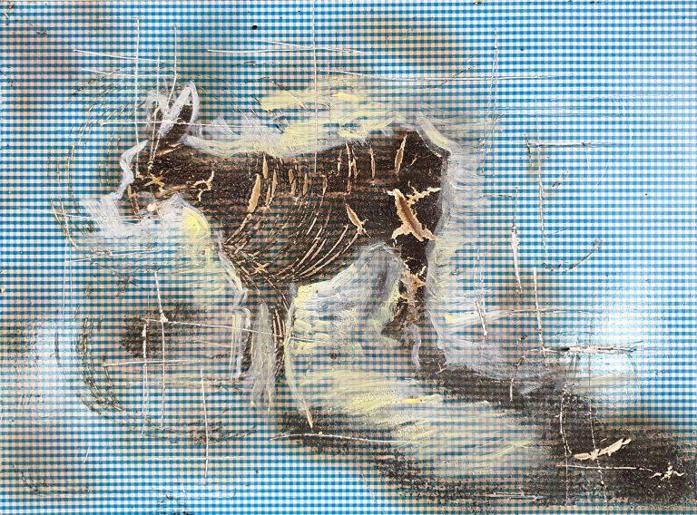 Asinello della nonna - 41x53 - Carta adesiva su lamiera - Gabriele Cantadore